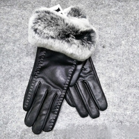 Glaforny Women's autumn and winter warm gloves real sheepskin making natural fur gloves 2018 new hot buy discount urban fashion