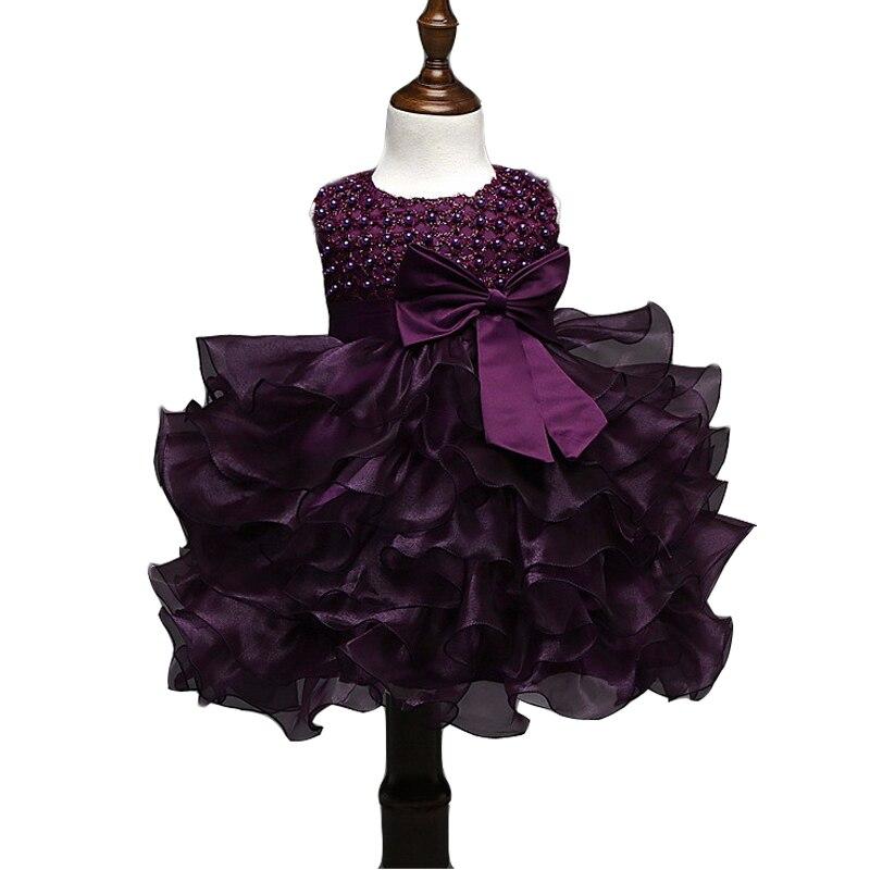 2017 Baby girl flower dress cute tutu dress baby girls clothes vestido bebe menina Christening Gown wedding dress ropa de bebe