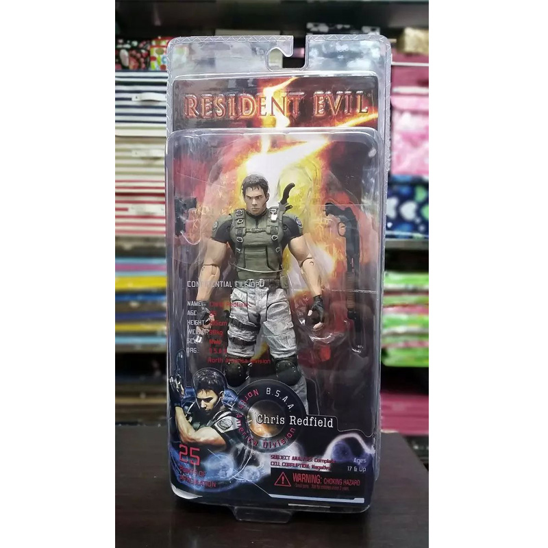 Resident Evil 5 Chris Game Chris Redfield Doll 1/7 scale PVC Action Figure Collectible Model Toy 21cm KT670 hot game dva d va pvc action figure collectible model toy 21cm kt3565