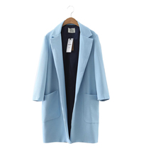Colorful Apparel Europe fashion new boyfriend Lapel long windbreaker jacket in the wind CA758