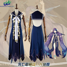 PADEGAO Game SINoALICE Little Mermaid Dress Set Cloth For Adult Women Party Halloween