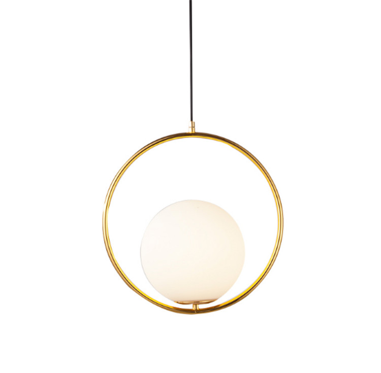 Free shipping glass ball pendant light circle round metal lighting fixture 20CM ball lamp hot sale ball pendant light fixture small black or white pendant lamp lighting hanging restaurant lamp free shipping