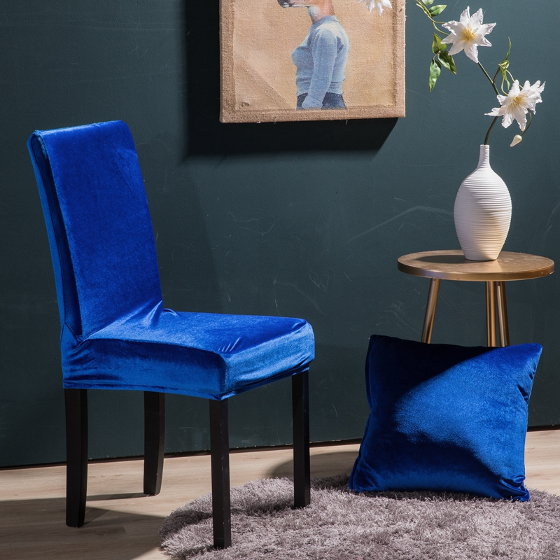 Wondrous Us 3 79 5 Off Silver Velvet Chair Cover Winter Universal Solid Color Seat Cover Spandex Chair Cover Chair Slip Covers In Chair Cover From Home Bralicious Painted Fabric Chair Ideas Braliciousco