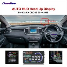Liandlee Car HUD Head Up Display For Kia KX CROSS 2010-2018 Safe Driving Screen OBD Speedometer Projector Windshield liandlee car hud head up display for lexus gx470 rx300 rx330 lx nx ux safe driving screen obd speedometer projector windshield