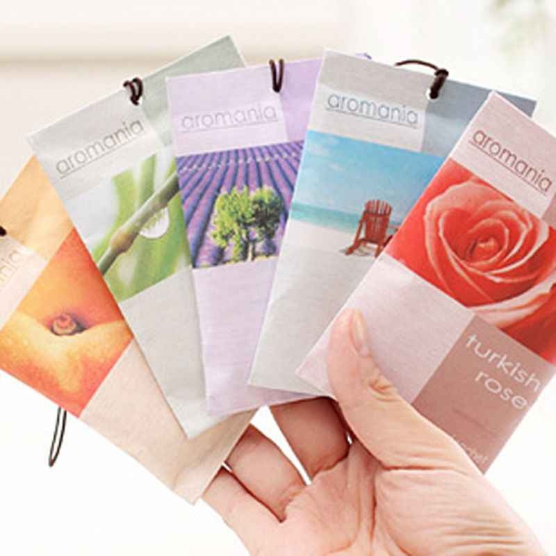 Mini Natural Air Freshener Vanilla Sachets Paper Fragrance Bag Scented
