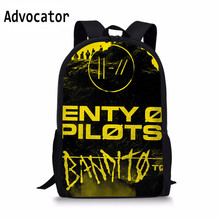ADVOCATOR Twenty One Pilots Backpack Teenage Girl Travel Shoulder Bag Men Women Student School Bags Boy Backpacks Mochila Custom