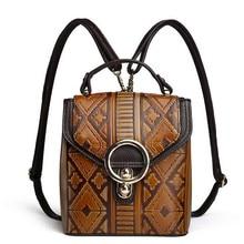 Брендовые женские роскошные Рюкзак Высокое качество Натуральная кожа сумка женские винтажные дизайнерские Back Pack Малый Мини школьные сумки