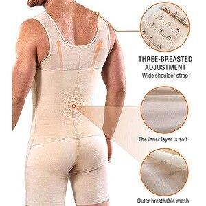 Image 4 - 연인 미용 슬리밍 바디 셰이퍼 플러스 사이즈 6XL Tummy 셰이퍼 조끼 속옷 코르셋 허리 Cincher 남성 Bodysuit