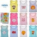 Verão Crianças Meninos Meninas Bebê Dos Desenhos Animados T-shirt sem mangas crianças Encabeça Roupas de algodão 100% das crianças gift set 5 pçs/lote
