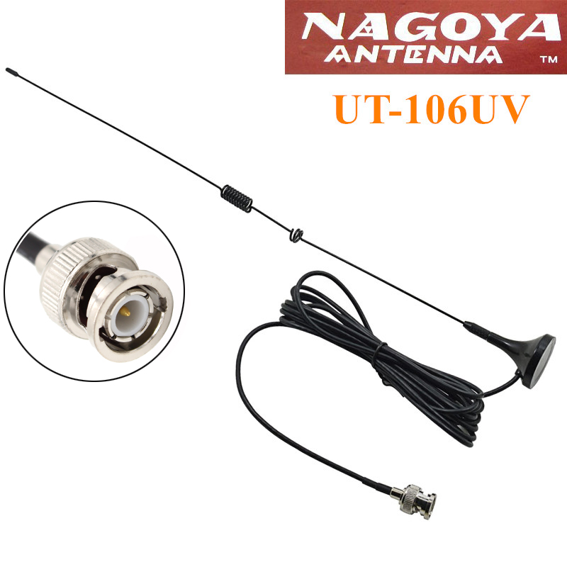 bilder für 5 stücke nagoya ut-106uv bnc-stecker dual-band-antenne für motorola wilson icom ic-v8 ic-v80 ic-w32 ic-v85 cp500 520 walkie talkie