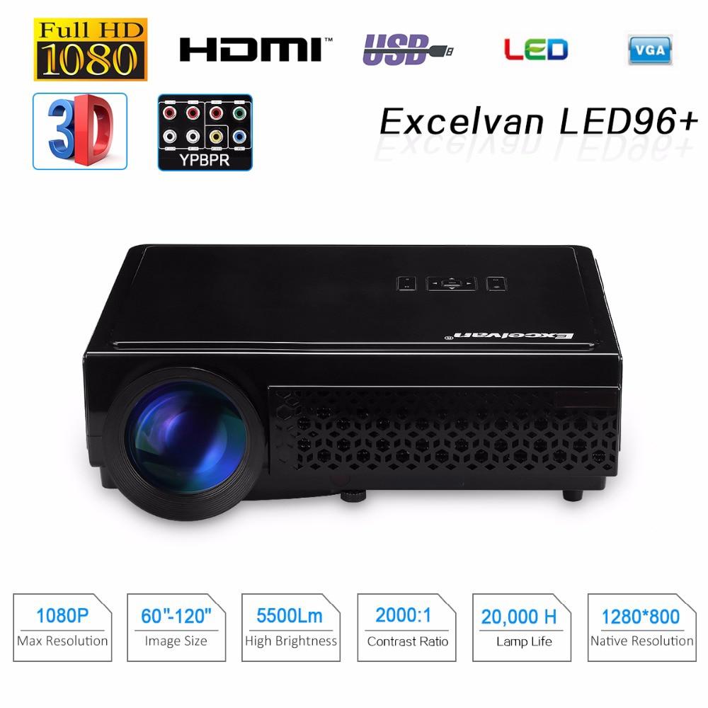Brightness 5500lumens Long Life Led Full Hd Led Home: Excelvan LED96+ 5500Lumens Long Life LED Full HD LED Home