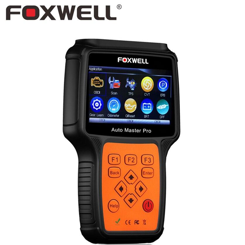 FOXWELL NT644 PRO полный Системы профессиональная Автомобильная OBD OBD2 инструмент диагностики DPF регенерации TPS автомобиля подушка безопасности ABS С...
