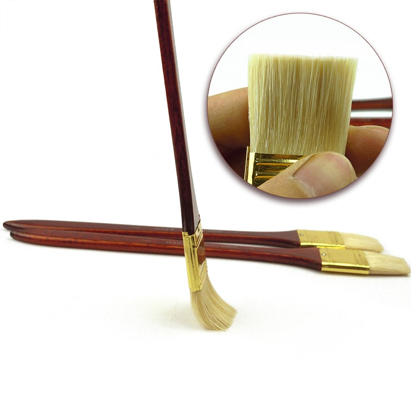 3pcs Round Wooden Handle Oil Painting Acrylic Painting Brush Brushes Tools