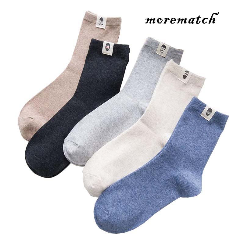 Morematch Autumn and Winter Glasses Beard Avatar Label Crew Solid Color Warm Business Knitted Socks for Cotton Men Sock in Men 39 s Socks from Underwear amp Sleepwears