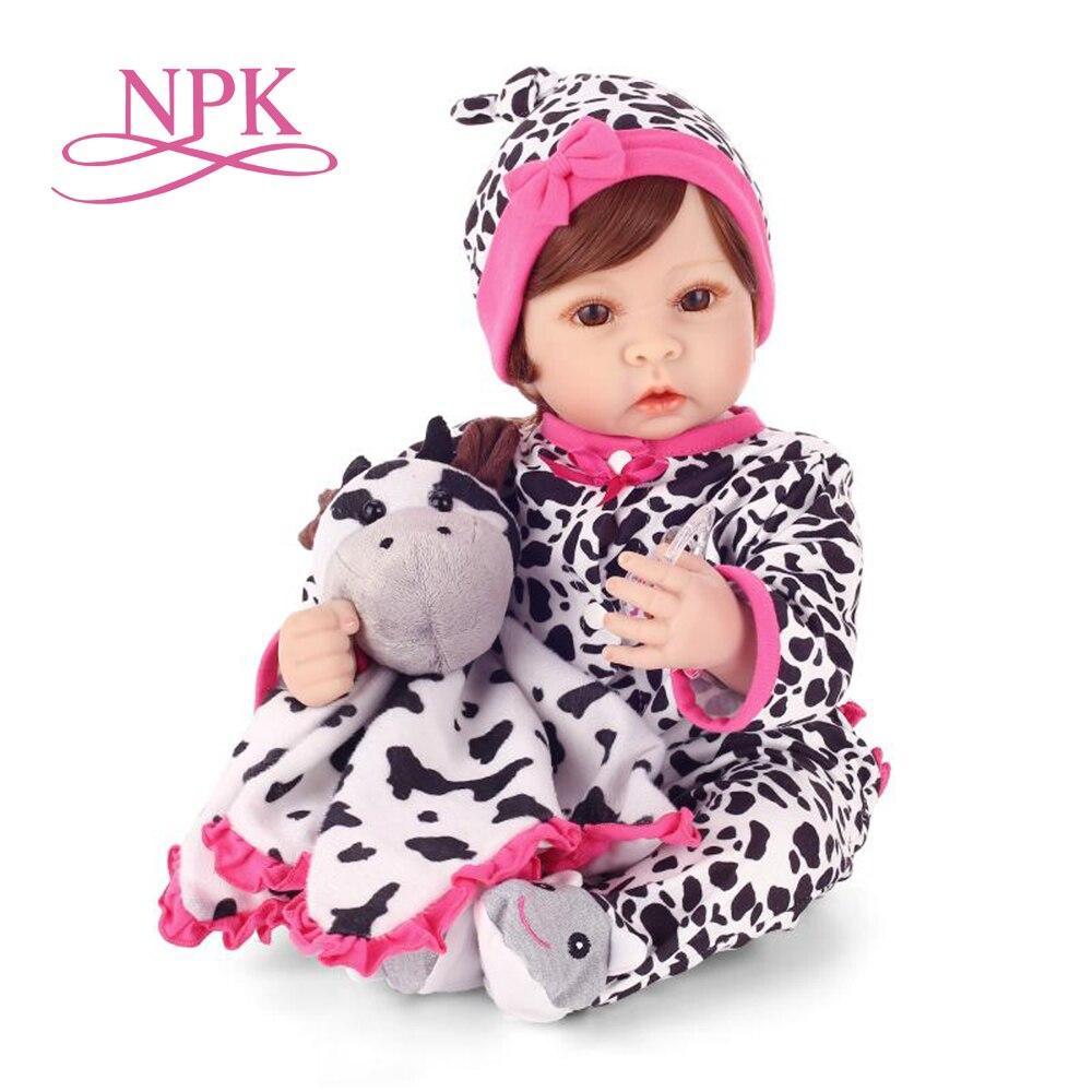 NPK simulation reborn bébé poupée avec doux réel doux tactile mignon doux vinyle silicone reborn poupées kids'playmates