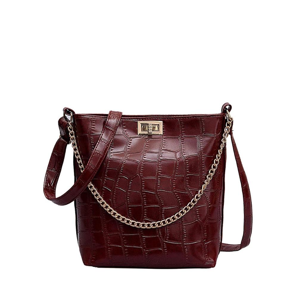 2019 Women Messenger Bag Stone Pattern Shoulder Bag Versatile Messenger Bag Fashion Bucket Bag2019 Women Messenger Bag Stone Pattern Shoulder Bag Versatile Messenger Bag Fashion Bucket Bag