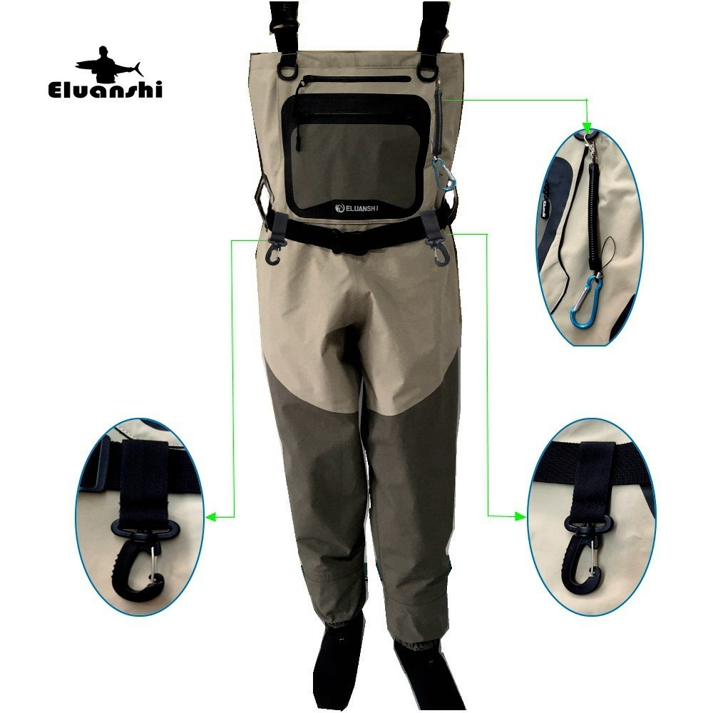 цена на fishing for wader Breathable tactical boots fly hunting Clothes men and wading pants foot pantalon area wear bot waist respirant