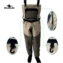 Pêche pour wader respirant tactique bottes mouche chasse vêtements hommes et wading pantalon pied pantalon zone porter bot taille respirant