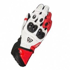 Image 1 - جديد 4 ألوان 100% جلد طبيعي GP PRO R2 دراجة نارية طويلة قفازات سباق القيادة دراجة نارية الأصلي موتوكروس جلد البقر قفازات
