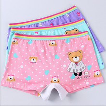 2016 Fashion Girls Underwear Cotton Panties For Girls Cartoon Panties Kids Short Briefs Child Underpants 3pcs/pack or 4pcs/pack