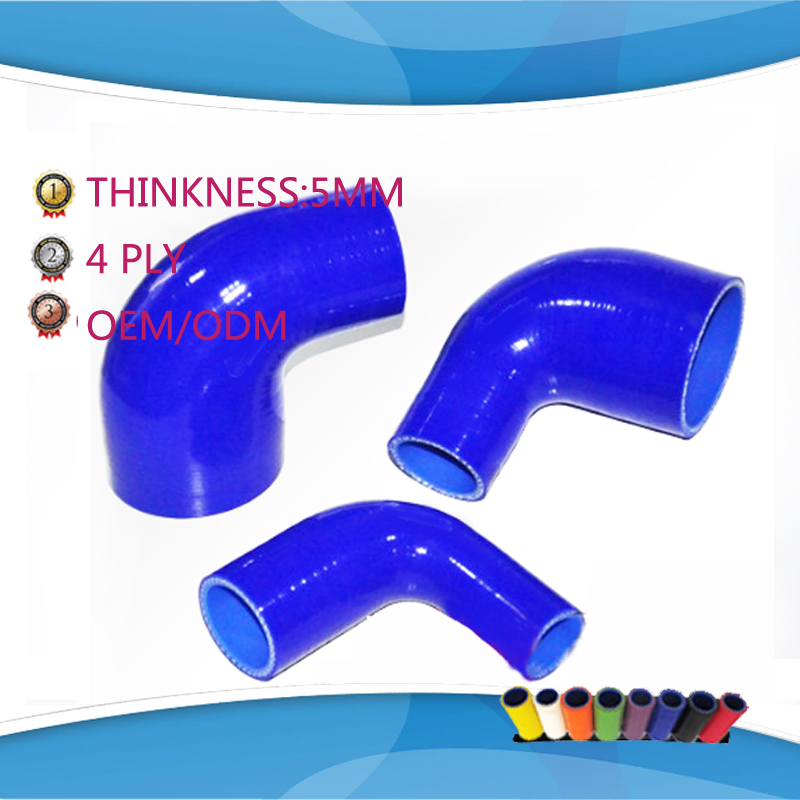 64mm to 70mm/ 76mm/83mm 90 Degree Eblow Silicone hose Reducer Coupler