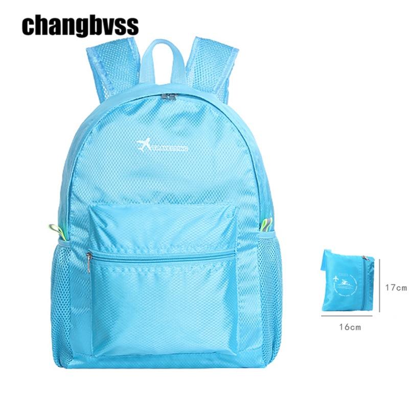 Portable Folding Backpack Travel Picnic Storage Bag Lightweight Travel Organizer Large Capacity Travel Backpack Waterproof Bags