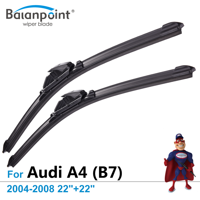 Wiper Blades for Audi A4 (B7) Avant & Saloon 2004-2008 22+22, Set of 2, Expert Fit Windshield Wipers image