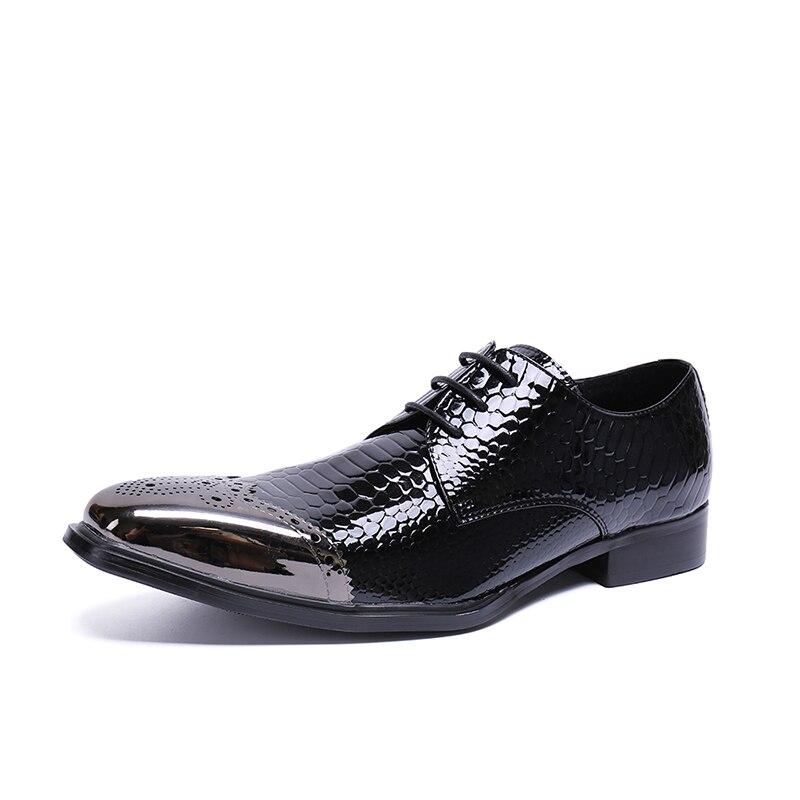 1d63b63b20 Oxford Sapatos Escritório Para Formal Size Vestido Apontado Dedo De  Negócios Genuíno 2019 Preto Homens 47 ...