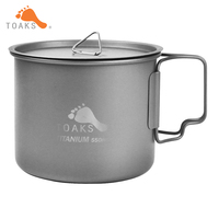 New One TOAKS 3in1 550ml Ultralight Titanium Pot Outdoor Camping Titanium Bowl Titanium Cup