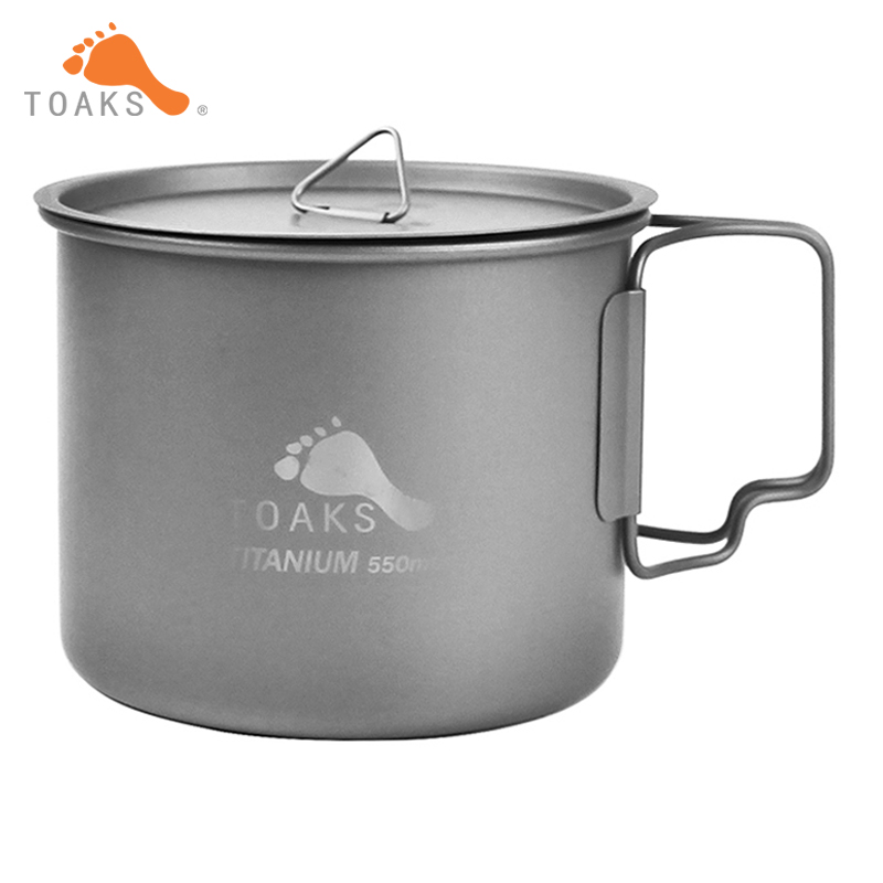 ᑎ‰Nuevo toaks 3in1 550 ml Ultralight Titanium pot acampar al aire ...