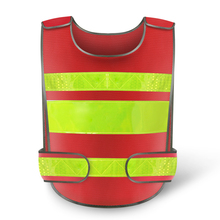 Red Reflective Safety Clothing Reflective Vest Workplace Road Working Motorcycle Cycling Sports Outdoor Print LOGO #001