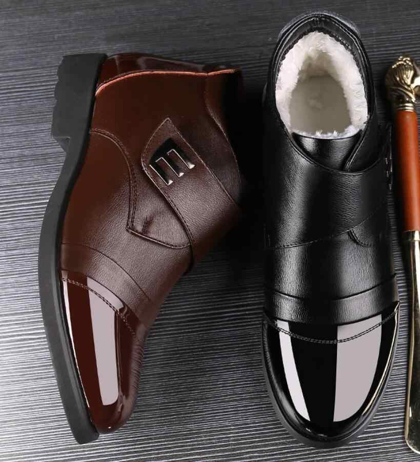 Neue Handgemachte Winter Knöchel Männer Echtes Leder Schnee Stiefel Hohe Qualität Mann Military sicherheit Stiefel Für Männer Business Schuhe erkek bot