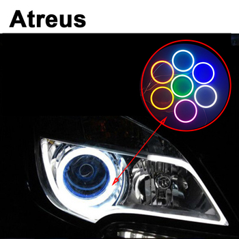 Atreus 2PCS Car Angel Eyes Halo Ring With Lampshades LED for BMW e46 e39 e36 x5 6 Audi a4 b6 a3 a6 c5 Renault duster Lada granta image