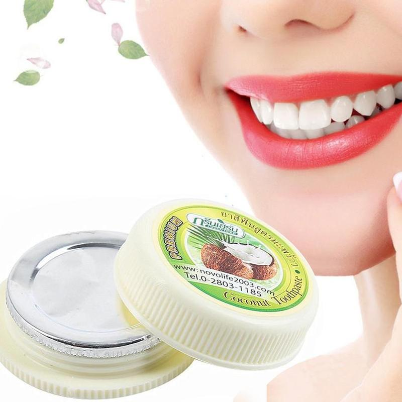 Thailand Coconut Toothpaste Herb Natural Herbal Clove Tooth Whitening Toothpaste Dentifrice Antibacterial Tooth Paste 35g