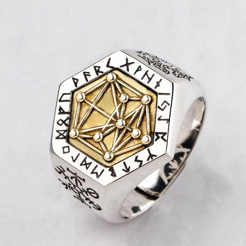 Mythologie nordique Viking rune bagues en argent Sterling pour homme et femme Kabala totem Index anneau bijoux de mode mygrillz