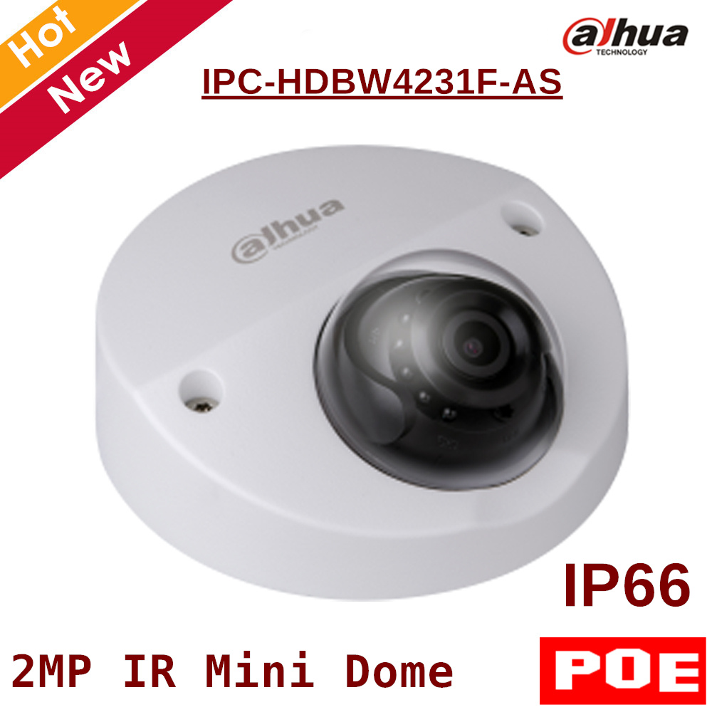 2MP English POE Dahua IP Camera IPC-HDBW4231F-AS IR distance 20m 1080P Security Camera Support sd card 128G IOS Android View dahua 32ch nvr 16 poe 2u case 8 sata 1080p 200mbps gigabit rj45 android ios