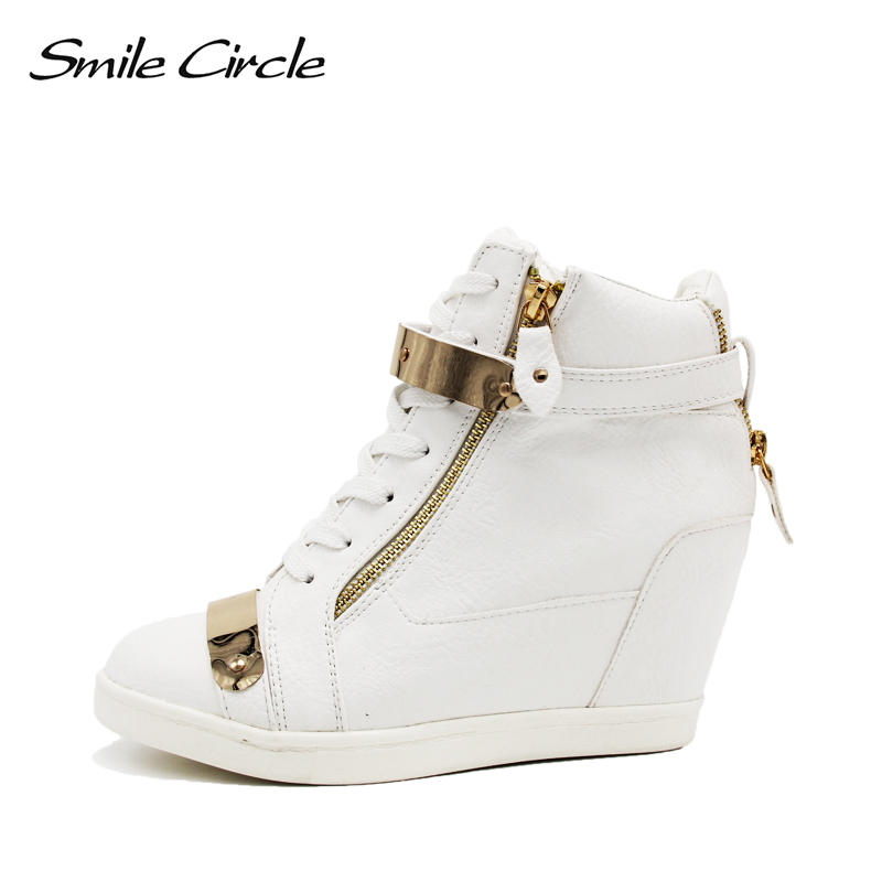 High heel casual shoes women sneakers