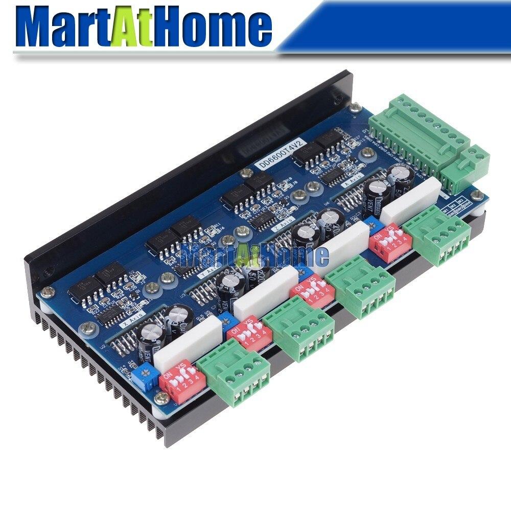 Бесплатная доставка ЧПУ 4 оси TB6600 Драйвер шагового двигателя 2 Фаза 4A 150 кГц DD6600T4V1 # SM703 @ CF