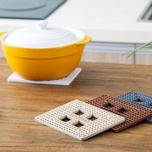 Creative square folding pot pad High temperature resistant insulated against the hot place mat cup 16.1*12.2*0.7cm