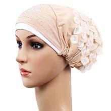 Женская мода Повседневная Кепка chemo выпадение волос головной платок обертывание Hijib Кепка для мусульманских Эластичный Тюрбан шляпа