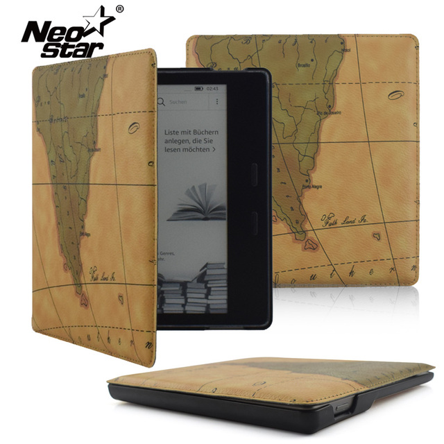 online store 8dc04 a9bb0 US $12.33 5% OFF|NEO STAR Leather Case Cover For Kindle Oasis 2017 7.0