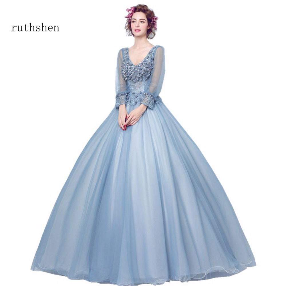 ruthshen Stunning Full Sleeves Quinceanera Dresses Sweet 16 ...