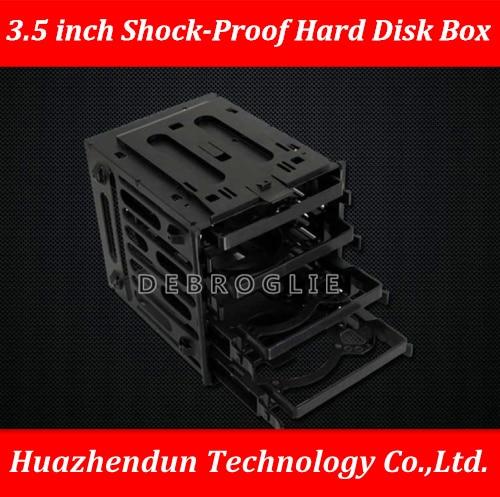 DEBROGLIE Korea 3R Shockproof Hard Disk Cage Box 3.5 Inch Shock-proof Hard Disk Bracket Save Space Put In 4PCS HDD/SSD