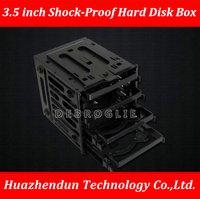 DEBROGLIE Korea 3R Shockproof Hard Disk Cage Box 3.5 inch Shock proof Hard Disk Bracket Save Space Put in 4PCS HDD/SSD