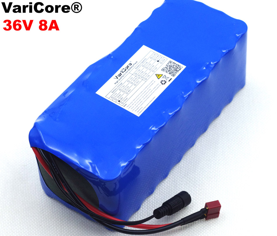 VariCore 36V 8Ah 10S4P 18650 Rechargeable battery pack ,modified Bicycles,electric vehicle 36V Protection with PCB liitokala 36v 6ah 10s3p 18650 rechargeable battery pack modified bicycles electric vehicle protection with pcb 36v 2a charger