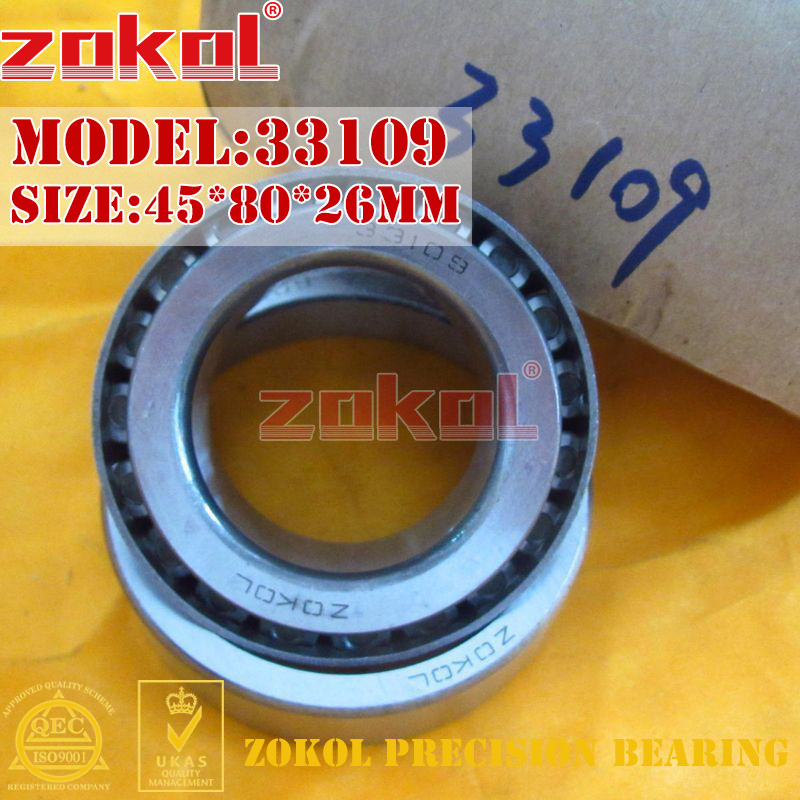 ZOKOL bearing 33109 3007709E Tapered Roller Bearing 45*80*26mm na4910 heavy duty needle roller bearing entity needle bearing with inner ring 4524910 size 50 72 22