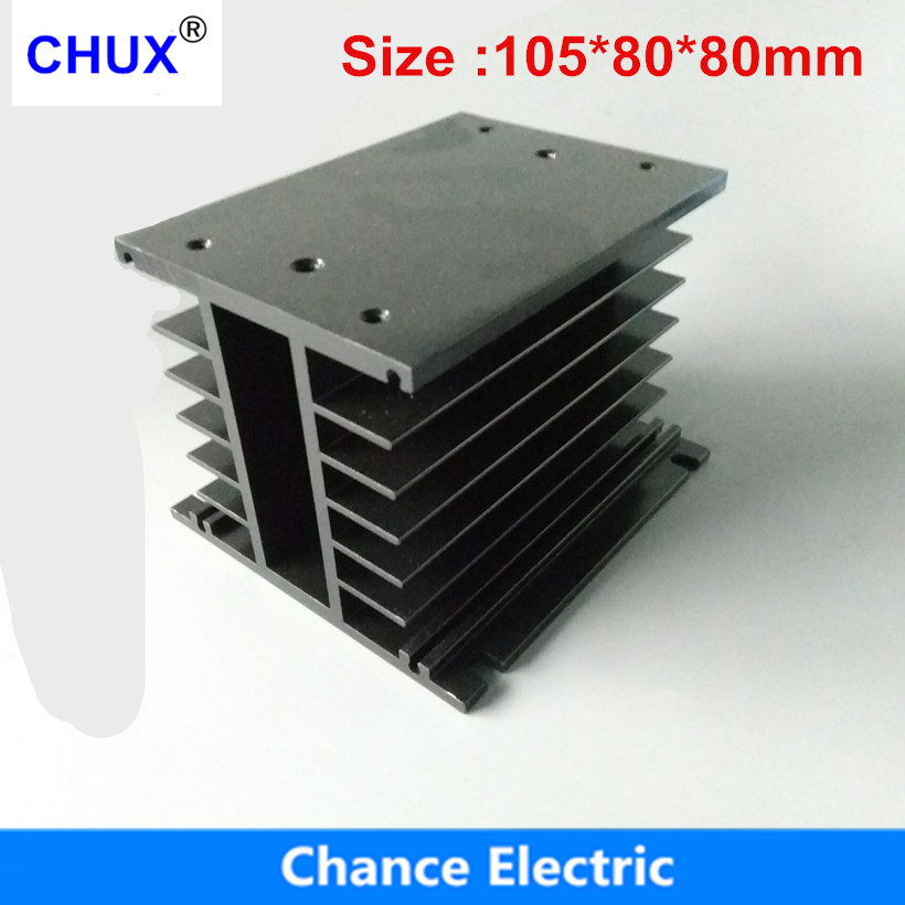 Solid State Relay Heating Radiator 105X80X80 mm be used for Three phase solid state relay 25A 40A (CX-E) normally open single phase solid state relay ssr mgr 1 d48120 120a control dc ac 24 480v