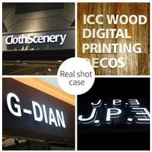 3D светодиодный бизнес, Логотип Легкий наружный светильник 0-9 цифровой Настольный светильник цвет сплава акрил водонепроницаемый 12 см белый