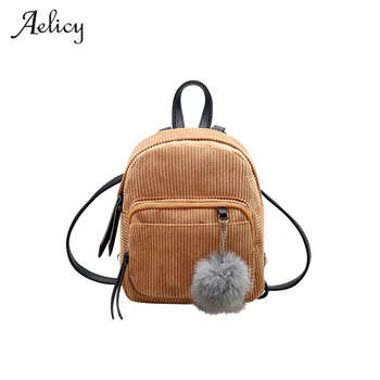 Aelicy High Quality  Mini Women Backpacks Women Backpack Teenage Backpacks for Girls Solid School Bags for Womem Candy Color