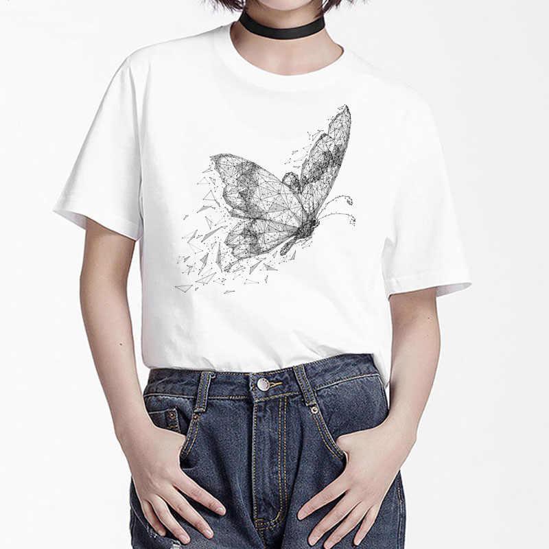 BGtomato bướm Lớn in in bán bướm đẹp Áo Thun Nữ thoải mái mùa hè cao cấp cổ sơ mi